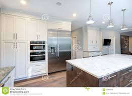 white shaker kitchen cabinets to ceiling beautiful white kitchen design stock image image of
