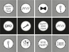 New Years Eve Cupcake Decorations by Instant Download Printable 80 U0027s Cupcake Toppers By Partyprintz