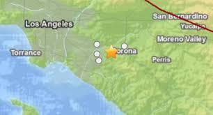 Earthquake Los Angeles Map by 3 8 Magnitude Earthquake Near Corona Nbc Southern California