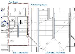 how to show stairs in a floor plan railing visibility with plan region autodesk community