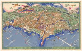 City Of Chicago Map by 1931 An Illustrated Map Of Chicago Youthful City Of The Big
