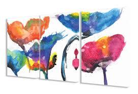 stupell industries painted look rainbow poppy flowers 3 piece