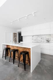 Marble Kitchen Backsplash Kitchen Floor Modern Minimalist All White Kitchen White Marble