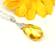 yellow necklace images Swarovski crystal yellow necklace lt 32 little desirez jewelry jpg