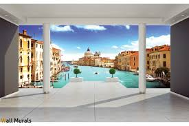 3d Murals by Mural Room View With Venice 3d Effect