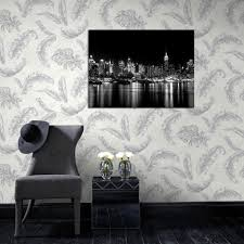 Feather Wallpaper Home Decor Feather White Silver Glitter Wallpaper By Graham U0026 Brown 32 945