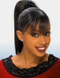 ponytail hairstyles for pictures of black women ponytail hairstyles with bangs best
