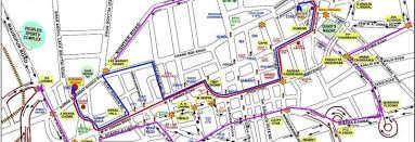 traffic map map alternate traffic plan during muharram processions in