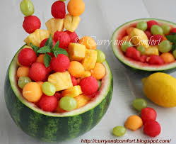 Fruit Bowls by Kitchen Simmer Fruit Salad In Watermelon Bowl