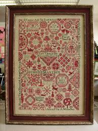 fantastic christmas cross stitch sampler really astonishingly