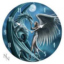 dragon fantasy art clock by anne stokes