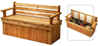 Plans For A Wooden Bench by Plans For Deck Bench Which Allows Storage Space For Seat Cushions