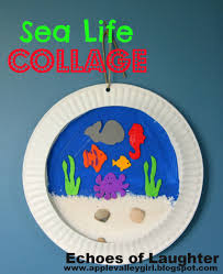 sea life collage kids u0027 craft echoes of laughter