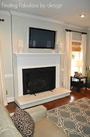 ceiling same color as walls painted brick fireplace u0026 family room makeover and great