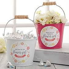 will you be my flower girl gift personalized mini buckets will you be my flower girl