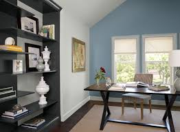 blue home office ideas calm cozy home office paint color schemes home office with a vibrant aqua blue accent wall