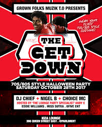 the get down 70s 80s style halloween party