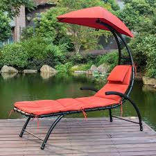 Outdoor Sun Lounge Chairs Dream Chaise Lounger Chair With Sun Shade Canopy