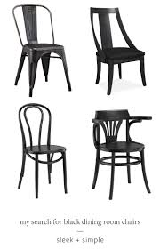 Dining Room Charis Jojotastic My Search For The Perfect Black Dining Room Chairs