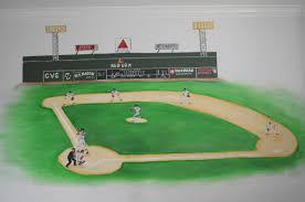 wall mural archives hand painted murals for children baseball mural boston fenway park