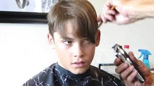 long haired boy getting a nice short haircut hd youtube