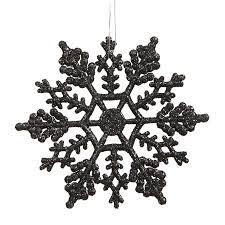 vickerman 6 25 black glitter snowflake ornament 12 pvc box