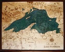 Lake Superior Map Lake Superior Lg 1024 Dk Frame Lake Art1 Jpg 1 274 1 024 Pixels