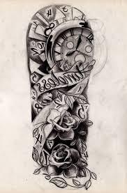 black and white half sleeve tattoo ideas home design