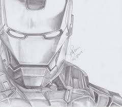 iron man pencil drawing by kimikorei07 on deviantart
