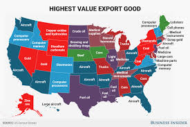 state map us exports state map business insider
