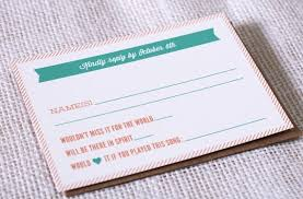 wedding song request cards dj song request on rsvp cards 9 ideas for your wedding
