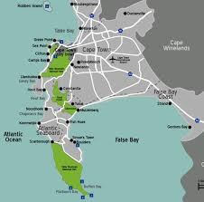 xmaps for africa map of cape town cape town map detailed map south africa