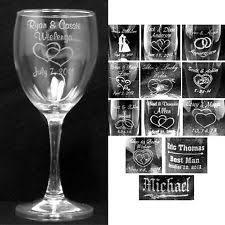 engraving wedding gifts personalized wedding glasses ebay