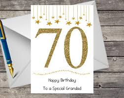 70th birthday card etsy