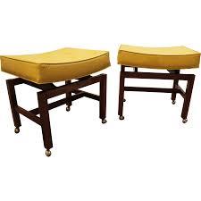 pair mid century danish modern jens risom floating atomic yellow