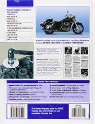 honda shadow vt600 u0026 vt750 automotive repair manual haynes