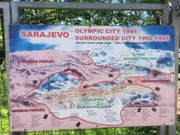 siege de sarajevo kaart dat de belegering rond sarajevo weergeeft picture of