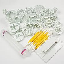 amazon com leegoal cake tools 14 sets 46pcs flower fondant cake