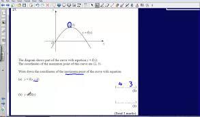 graph transformations question 27 edexcel gcse maths 2008 non