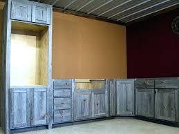 Reclaimed Barn Wood Kitchen Cabinets Barnwood Kitchen Cabinets Faux Barn Wood Kitchen Cabinets
