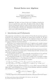 formal series over algebras springer