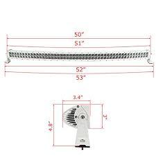 curved marine led light bar auxbeam curved 50 288w led work light bar 28800lm combo philips