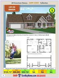 cape cod modular home prices from all american homes cape cod