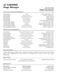 Sound Engineer Resume Sample by Resume Examples Stage Manager Resume Template Theatrical
