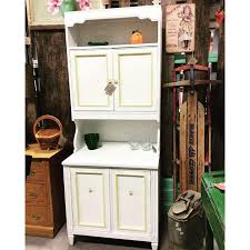 Kitchen Hutch by Vintage White And Yellow Painted 2 Piece Hutch The Regeneration