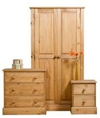Premium Corona White Bedroom Furniture Set Drawers Trunk Bedside - White pine bedroom furniture set