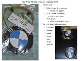 diy how to remove replace a bmw ornament aka badge decal