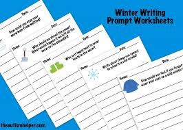 winter writing prompts the autism helper