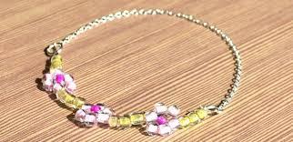 make bead flower bracelet images Handcrafted jewelry idea how to make a beaded flower bracelet jpg