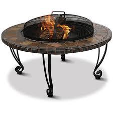 uniflame slate and marble fire pit walmart com